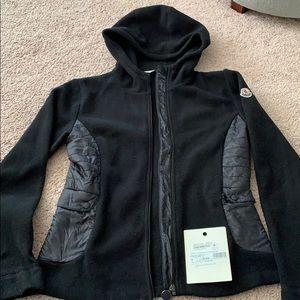 Moncler kids 14 women's xs black fleece jacket